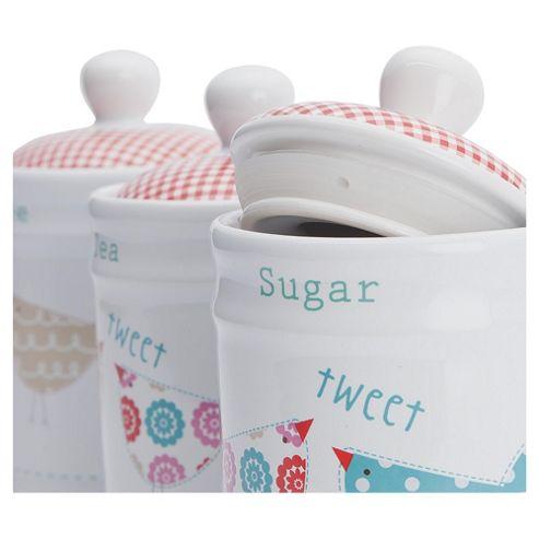 Tesco Tweet Tea, Coffee and Sugar Set