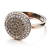 Shimla Ladies Rose Gold Stone Set Ring - SH-227SM