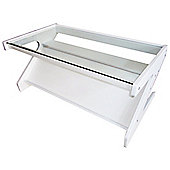 Z - Glass Coffee Table / Tv Unit - White