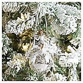Weiste Silver Fairy Bauble Christmas Tree Decoration