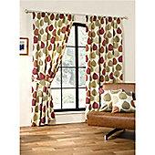 Woodland Pencil Pleat Curtains 168 x 183cm - Terracotta