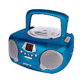 Groov-e GVPS713/BE Boombox - Portable CD Player with Radio - Blue