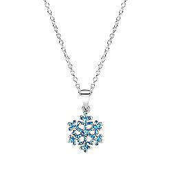 Jo For Girls Frozen Blue Snowflake Pendant