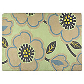 Tesco Contemporary Opal Rug 160X230, Duck Egg