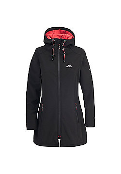 Trespass Ladies Kitsy 3/4 Softshell Coat - Black