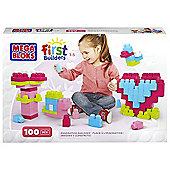 Mega Bloks First Builders 100 Block Set - Pink