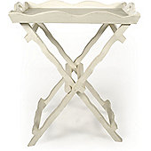 Papa Theo Butler's Tray in Antique White finish