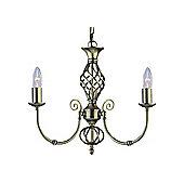 Classical Pendant Lighting Fixture in Dark Brushed Brass