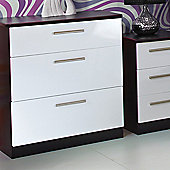 Welcome Furniture Knightsbridge 3 Drawer Deep Chest - Black - Aubergine