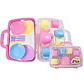 Pink Tea Set In Carrycase