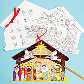 Christmas Crafts Nativity Advent Calendars (3 Pcs)