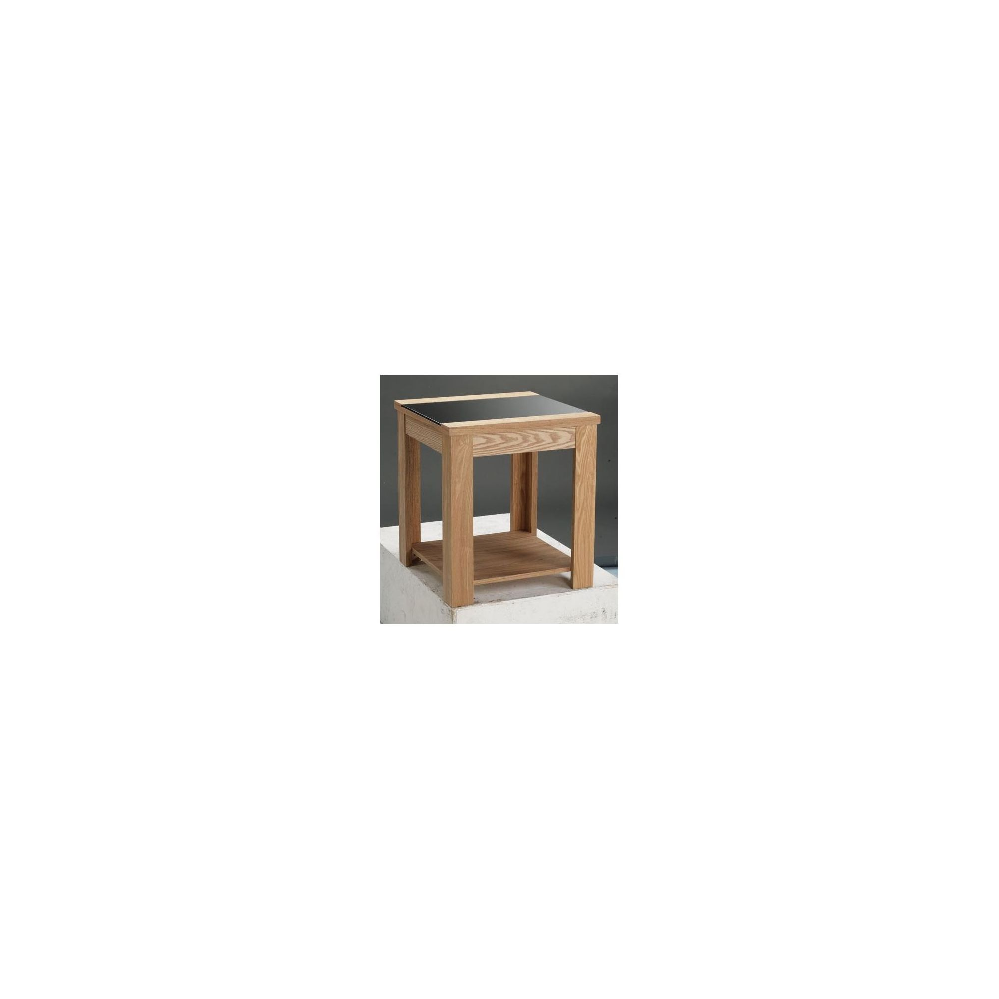 Home Zone Ainsley Occasional Lamp Table in Oak