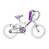 "Concept Secret 16"" Kids' Bike, White/Lilac"