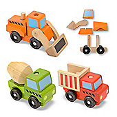 Melissa Doug Stacking Construction Vehicles