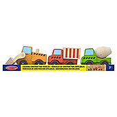 Melissa & Doug Stacking 3-Pack Wooden Construction Vehicles