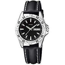 M-Watch Drive Mens Leather Day & Date Rotating Bezel Watch A667.30436.07