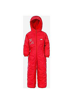 Trespass Kids DripDrop All In One Padded Waterproof Rain Suit - Red