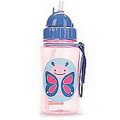 Skip Hop Zoo Straw Drinks Bottle - Butterfly