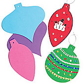 Children's Crafts Bauble Foam Shapes (12 Pcs)