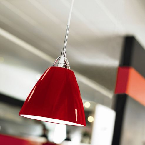 Nordlux Read Metal Pendant in Red - 20 cm