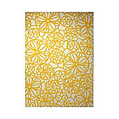 Esprit Society White / Yellow Contemporary Rectangular Rug