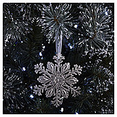Silver Glitter Snowflake Christmas Tree Decoration