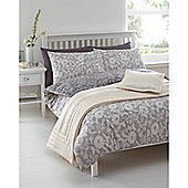 Linea Modern Lace Double Duvet Cover In Grey