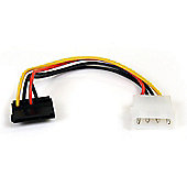 StarTech 15cm 4 Pin Molex to Right Angle SATA Power Adapter Cable