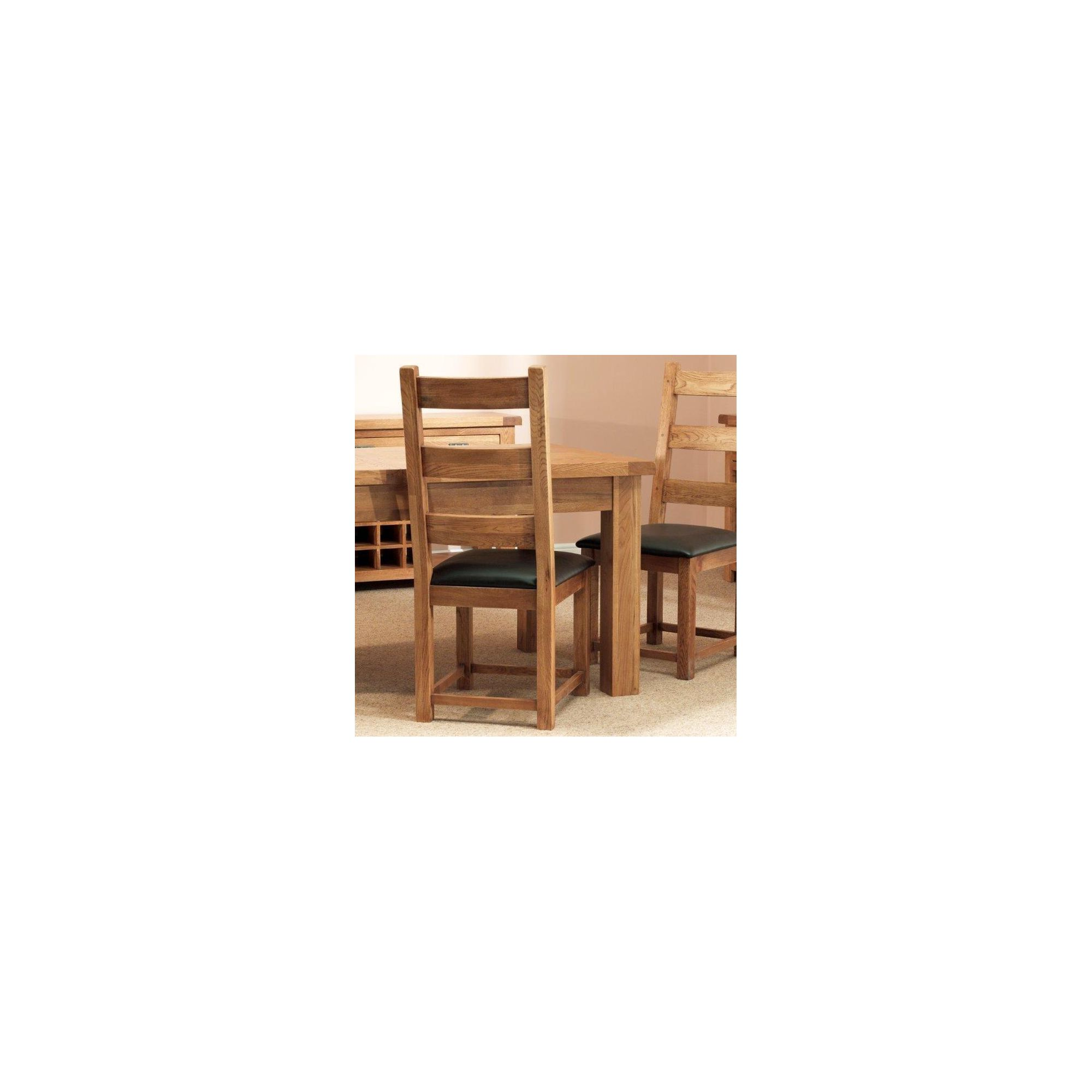 Sleepy Valley Buckingham Oak Pu Dining Chair