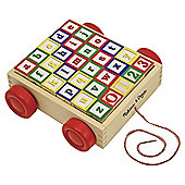ABC /123 Wooden Block Cart - Melissa & Doug
