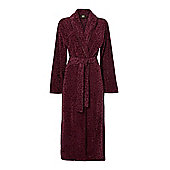 Biba Cotton Leopard Robe M/L In Plum