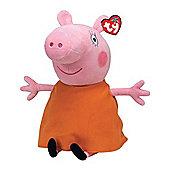 "Ty Beanie 9"" Plush - Peppa Pig Mummy Pig"