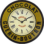 Roger Lascelles Clocks Guerin-Boutron Chocolate Wall Clock