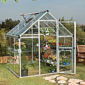 Palram Harmony 6' x 6' - Silver Greenhouse - Polycarbonate and Aluminium Frame