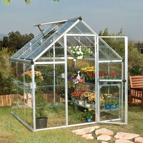 Palram Harmony 6x6 -Silver Greenhouse - Polycarbonate and Aluminium Frame