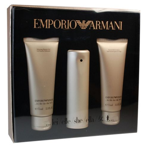 Emporio Armani She 50ml EDP Spray, 75ml Shower Gel & 75ml Body Lotion Gift Set