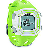 Garmin Forerunner 10 GPS Running Watch - Green/White, Small