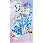 Disney Princess Cinderella Birthday Card - 4 Years