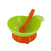 Zeal Baby Bowl and Spoon Set Lime