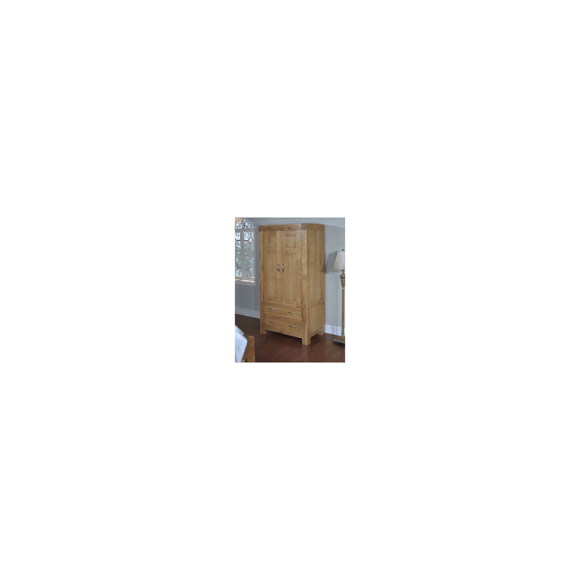 Hawkshead Rustic Oak Blonde Single Wardrobe at Tesco Direct