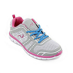 Woodworm Sports Fws Ladies Running Shoes / Trainers Grey/Pink Size 5