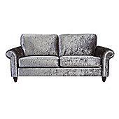 Chester three seater Sofa - Silver