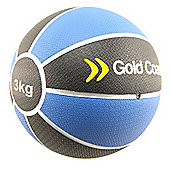 Gold Coast 3kg Heavy Duty Rubber Medicine Ball - For Weights Training Exercise Fitness MMA Boxing