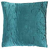 Crushed Velvet Cushion, Teal