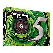 Bridgestone Mens e5 Distance Control Golf Balls (Dozen)