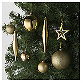 Festive Luxury Mixed Gold Bauble Pack, 100 Piece