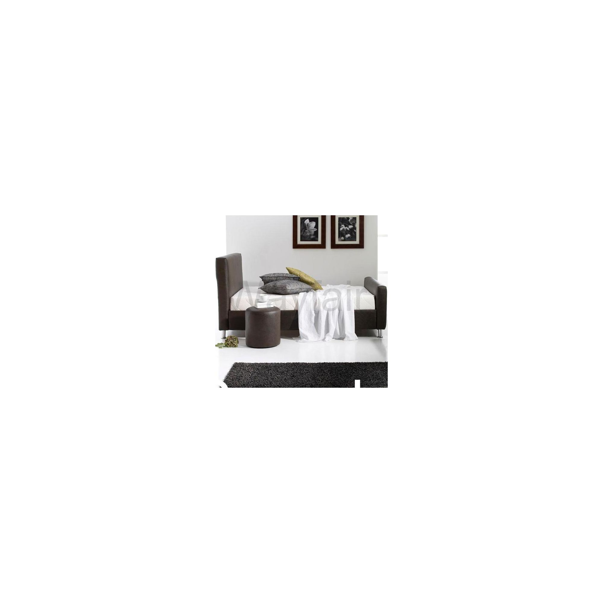 MA Living Murin Bed - faux leather Brown - Single at Tesco Direct