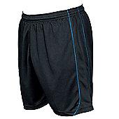 Precision Mestalla Shorts Men'S Football Shorts Training Sportswear - Black & Azure