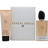 Giorgio Armani Si Gift Set 100ml EDP + 75ml Body Lotion For Women