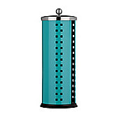 Premier Housewares Toilet Roll Holder with Lid - Turquoise